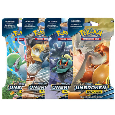 Pokemon Card Sun and Moon Unbroken Bonds Booster Pack Blister