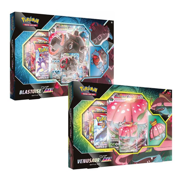 Pokemon TCG Venusaur & Blastoise VMAX Battle Box (PRE-ORDER) - The Feisty Lizard