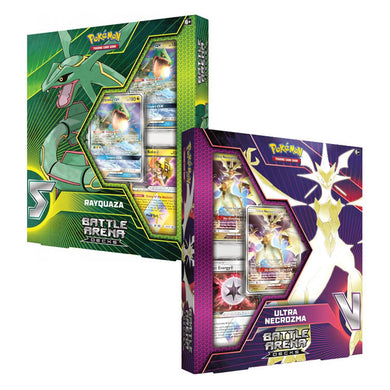 Pokemon TCG Battle Arena Deck Rayquaza GX / Ultra Necrozma GX - The Feisty Lizard