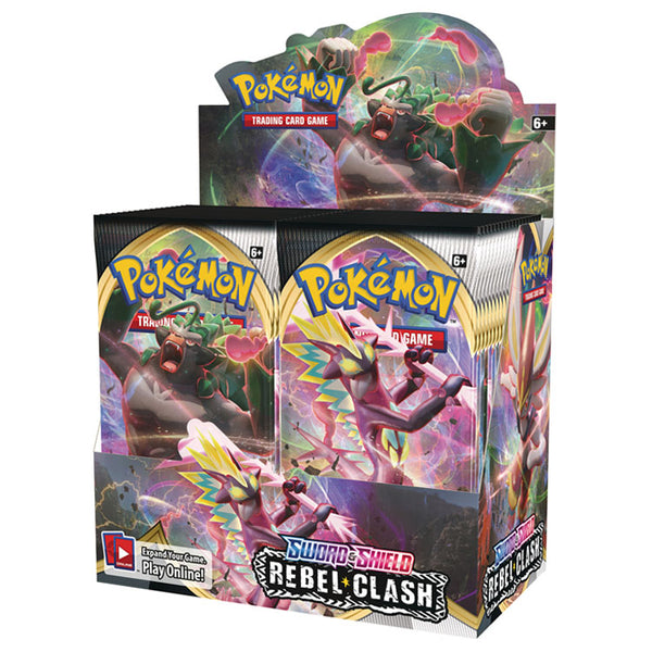 Pokemon TCG Sword & Shield Rebel Clash Booster Box (PRE-ORDER) - The Feisty Lizard