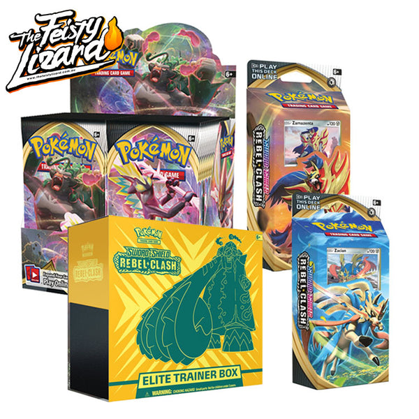 Pokemon TCG Sword & Shield Rebel Clash Bundle 4 (PRE-ORDER) - The Feisty Lizard