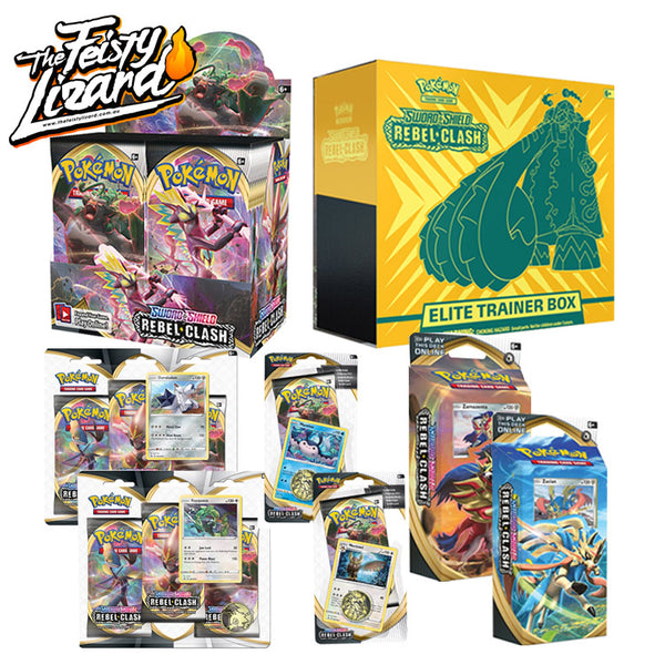 Pokemon TCG Sword & Shield Rebel Clash Bundle 5 (PRE-ORDER) - The Feisty Lizard