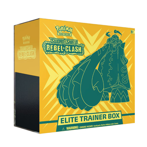 Pokemon TCG Sword & Shield Rebel Clash Elite Trainer Box - The Feisty Lizard Melbourne Australia