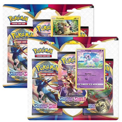 Pokemon TCG Sword & Shield Three Booster Blister (PRE-ORDER) - The Feisty Lizard