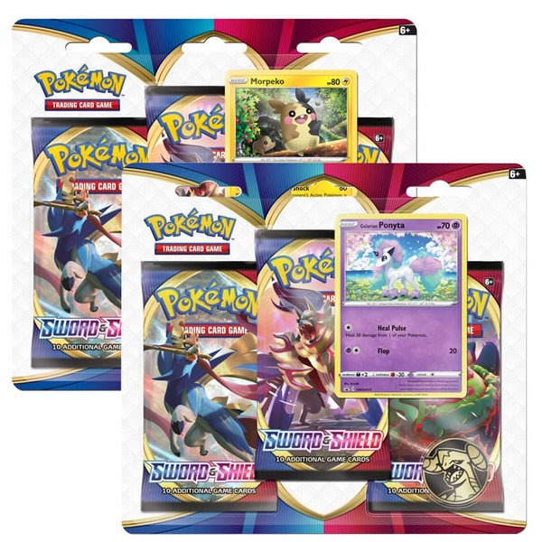 Pokemon TCG Sword & Shield 3 Booster Blister - The Feisty Lizard