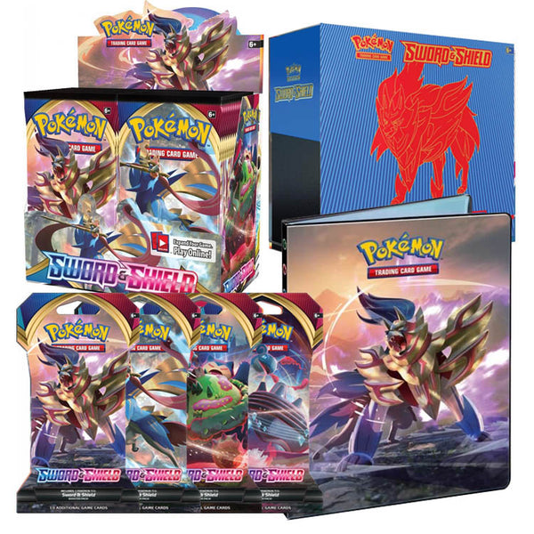 Pokemon TCG Sword & Shield Bundle 3 (Zamazenta) (PRE-ORDER) - The Feisty Lizard