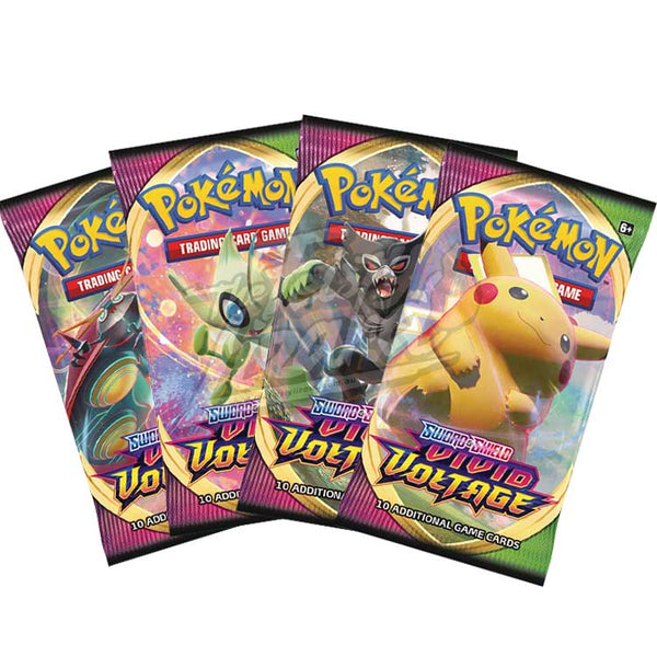Pokemon TCG Sword & Shield Vivid Voltage Booster Pack - The Feisty Lizard Melbourne Australia