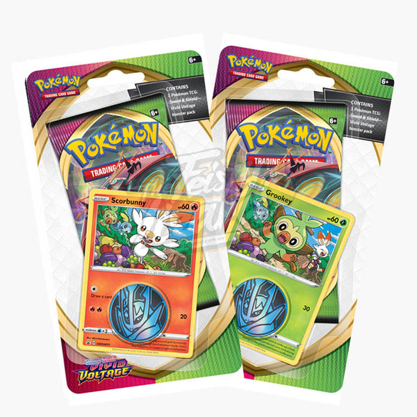 Pokemon TCG Sword & Shield Vivid Voltage Checklane Blister (PRE-ORDER) - The Feisty Lizard Melbourne Australia