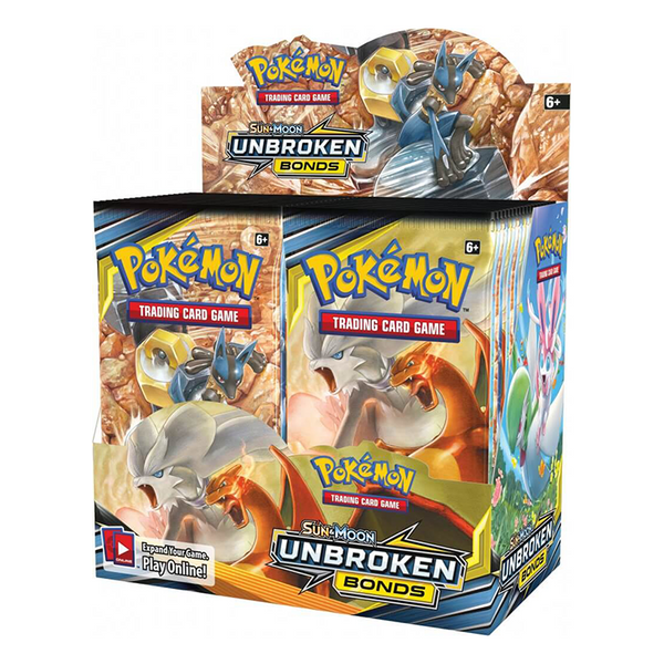 Pokemon TCG Sun & Moon Unbroken Bonds Booster Box - The Feisty Lizard