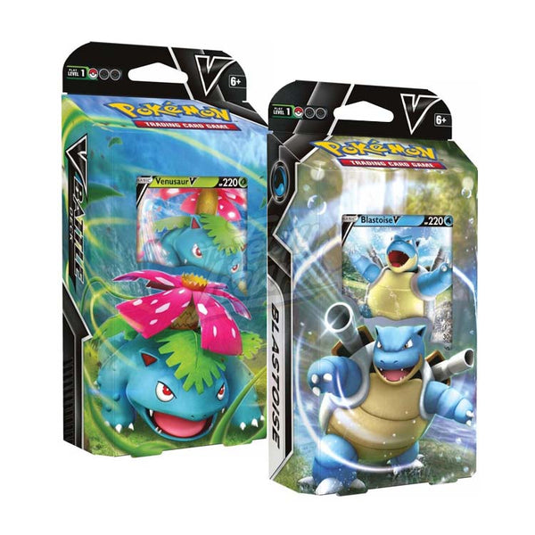 Pokemon TCG Venusaur V & Blastoise V Battle Deck (PRE-ORDER) - The Feisty Lizard Melbourne Australia