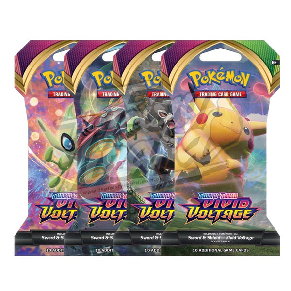 Pokemon TCG Sword & Shield Vivid Voltage Blister Pack - The Feisty Lizard Melbourne Australia