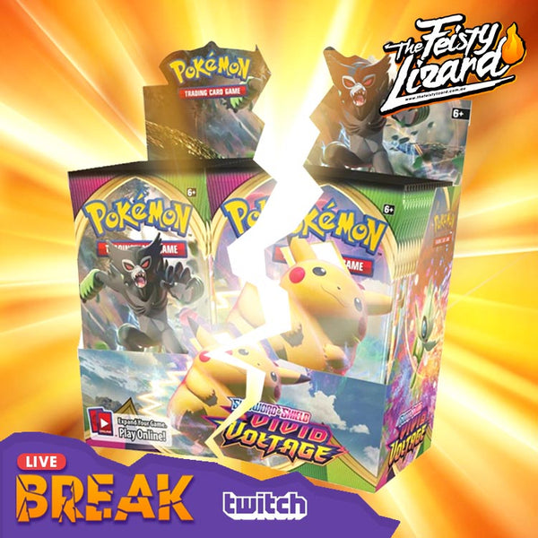Pokemon TCG Vivid Voltage Booster Box LIVE BREAK (4 SPOTS) - The Feisty Lizard Melbourne Australia