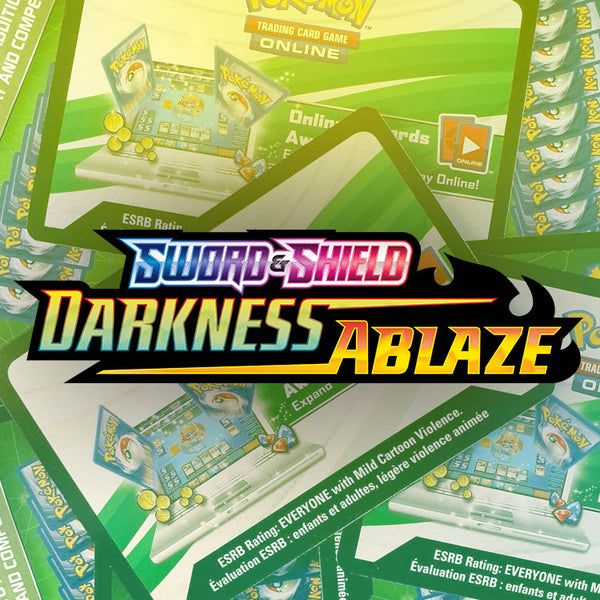 Pokemon TCG Darkness Ablaze PTCGO Online Codes x50 - The Feisty Lizard Melbourne Australia