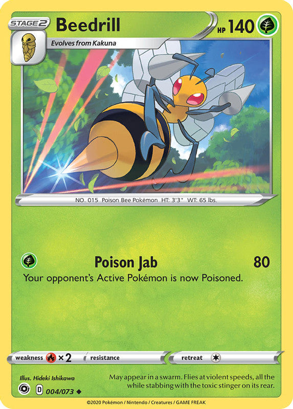 004/073 Beedrill Uncommon Champion's Path - The Feisty Lizard Melbourne Australia