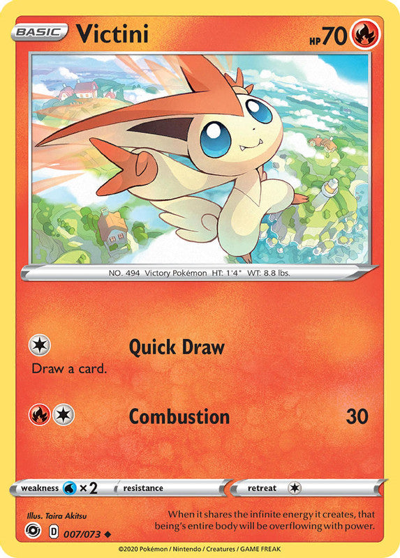 007/073 Victini Uncommon Champion's Path - The Feisty Lizard Melbourne Australia