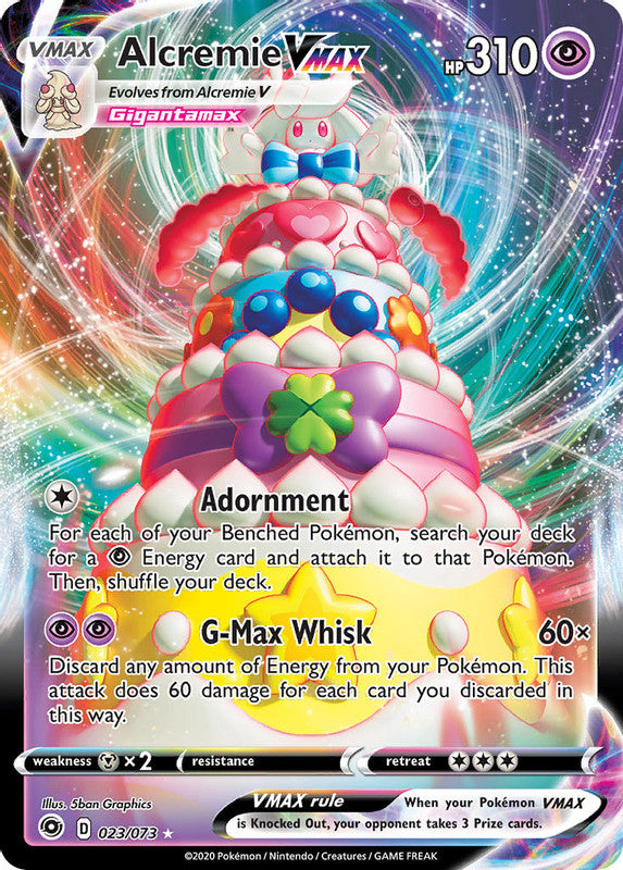 023/073 Alcremie VMAX Ultra Rare Champion's Path - The Feisty Lizard Melbourne Australia