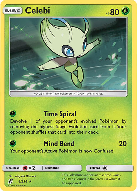 4/236 Celebi Holo Rare - The Feisty Lizard