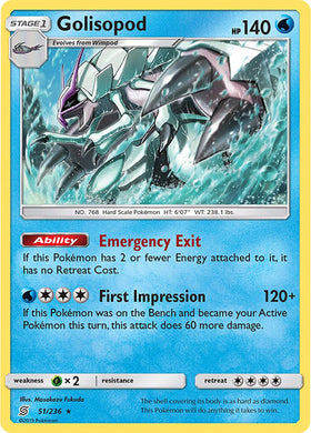 51/236 Golisopod Holo Rare - The Feisty Lizard