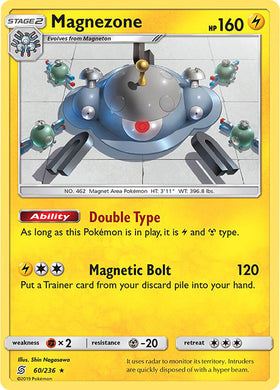 60/236 Magnezone Holo Rare - The Feisty Lizard