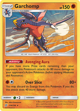114/236 Garchomp Holo Rare - The Feisty Lizard