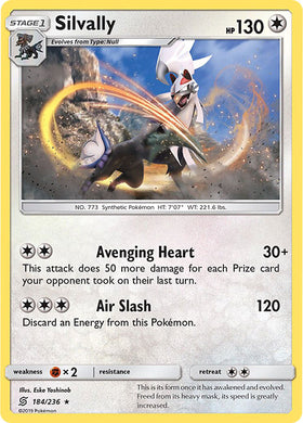 184/236 Silvally Holo Rare - The Feisty Lizard