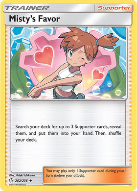202/236 Misty's Favor Uncommon Trainer Unified Minds - The Feisty Lizard