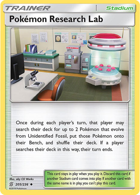 205/236 Pokémon Research Lab Uncommon Trainer Unified Minds - The Feisty Lizard