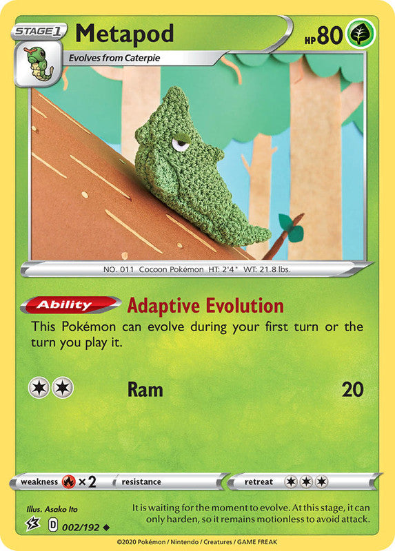 002/192 Metapod Uncommon Rebel Clash - The Feisty Lizard Melbourne Australia