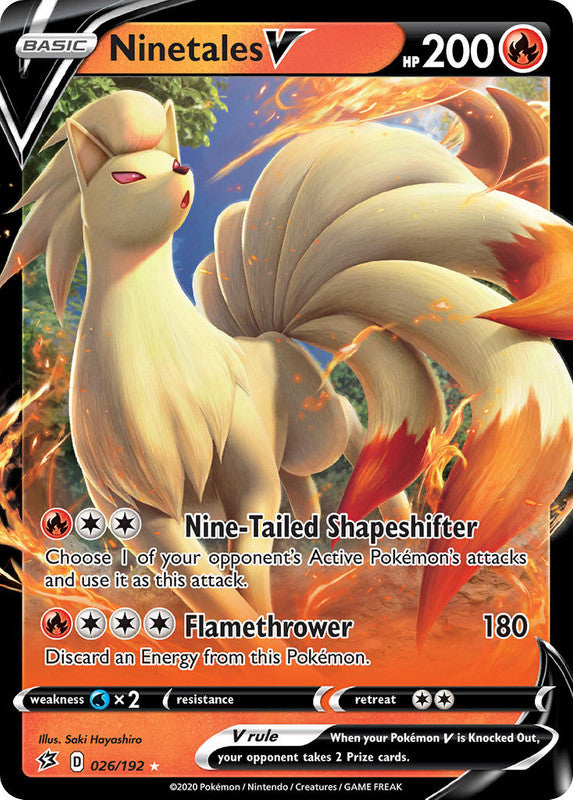 026/192 Ninetales V Ultra Rare Rebel Clash - The Feisty Lizard Melbourne Australia