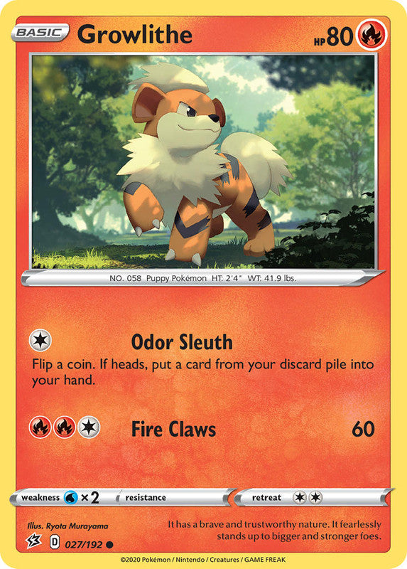 027/192 Growlithe Common Rebel Clash - The Feisty Lizard Melbourne Australia