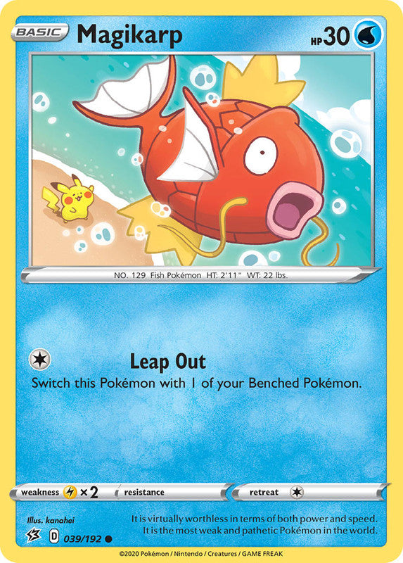 039/192 Magikarp Common Rebel Clash - The Feisty Lizard Melbourne Australia