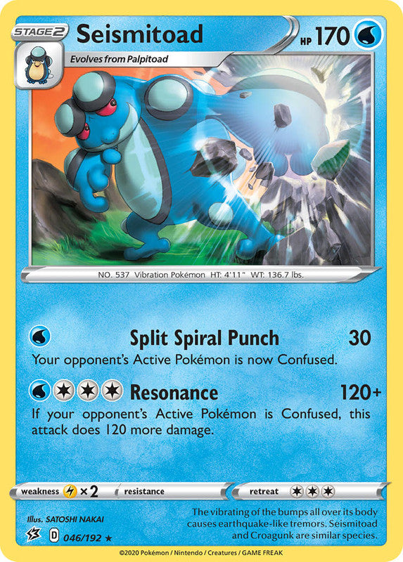 046/192 Seismitoad Rare Rebel Clash - The Feisty Lizard Melbourne Australia
