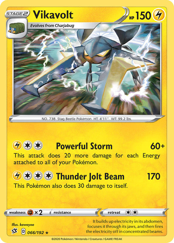 066/192 Vikavolt Holo Rare Rebel Clash - The Feisty Lizard Melbourne Australia