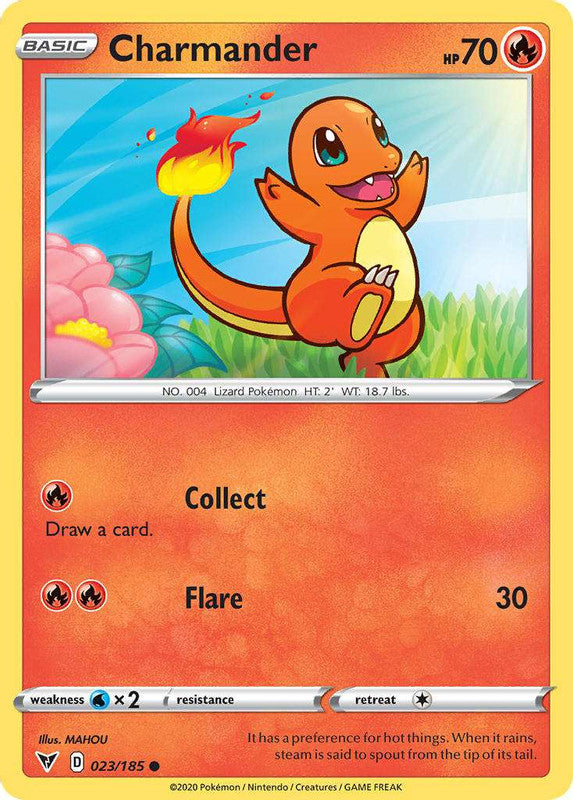 023/185 Charmander Common Vivid Voltage - The Feisty Lizard Melbourne Australia