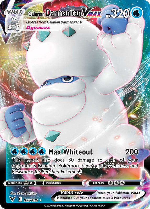 037/185 Galarian Darmanitan VMAX Ultra Rare Vivid Voltage - The Feisty Lizard Melbourne Australia