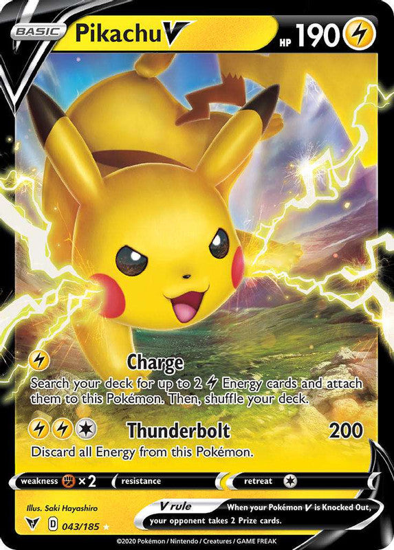 043/185 Pikachu V Ultra Rare Vivid Voltage - The Feisty Lizard Melbourne Australia