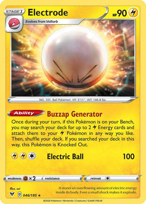 046/185 Electrode Holo Rare Vivid Voltage - The Feisty Lizard Melbourne Australia