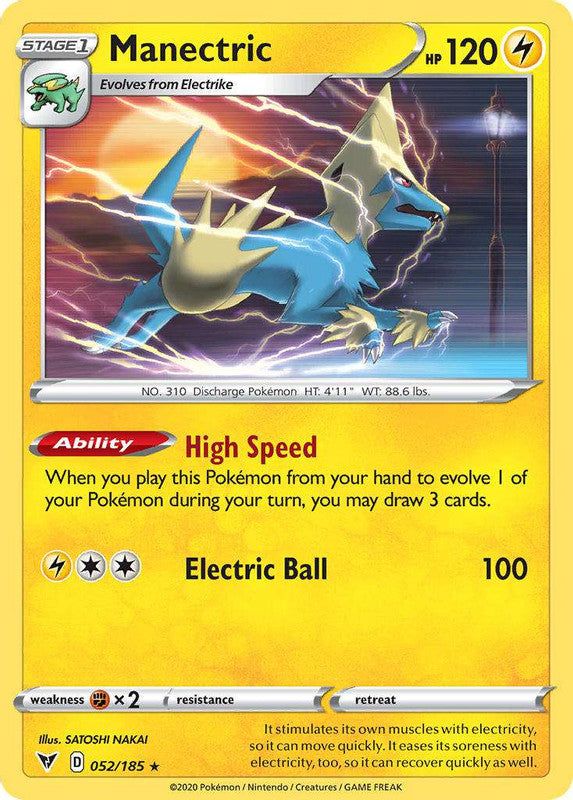 052/185 Manectric Rare Vivid Voltage - The Feisty Lizard Melbourne Australia
