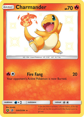 SV6/SV94 Charmander Rare Holo Shiny Hidden Fates - The Feisty Lizard