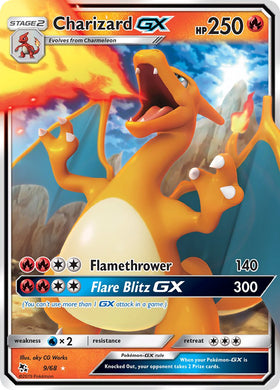 9/68 Charizard GX Ultra Rare Hidden Fates - The Feisty Lizard