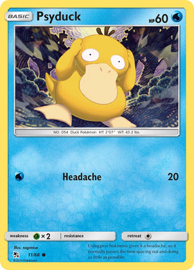 11/68 Psyduck Common Hidden Fates - The Feisty Lizard