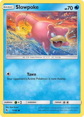 12/68 Slowpoke Common Hidden Fates - The Feisty Lizard
