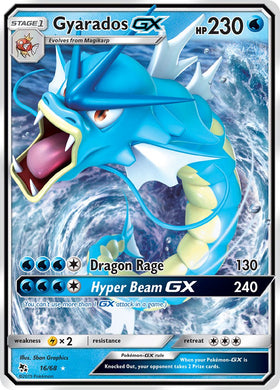 16/68 Gyarados GX Ultra Rare Hidden Fates - The Feisty Lizard