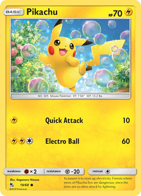 19/68 Pikachu Common Hidden Fates - The Feisty Lizard
