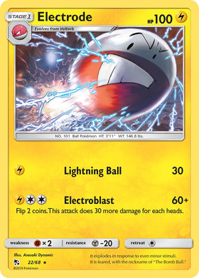 22/68 Electrode Rare Hidden Fates - The Feisty Lizard