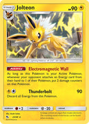 23/68 Jolteon Rare Hidden Fates - The Feisty Lizard