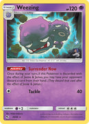 29/68 Weezing Rare Hidden Fates - The Feisty Lizard