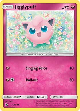 41/68 Jigglypuff Common Hidden Fates - The Feisty Lizard
