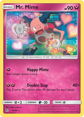 43/68 Mr. Mime Rare Hidden Fates - The Feisty Lizard