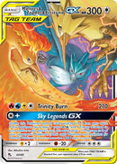 44/68 Moltres & Zapdos & Articuno GX Ultra Rare Hidden Fates - The Feisty Lizard